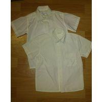 Рубашка светлая с коротким рукавом