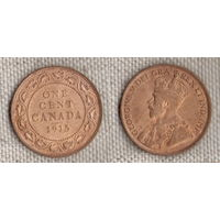 Канада 1 цент 1915 Георг V (Zo)