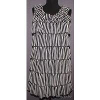 Модный тренд сезона  черно-белое платье-мини  MELA LOVES LONDON с оборками р-р S !!! До 9 мая отдам за 20!
