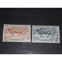 Французский Камерун 1946 Стандарт Фауна Этнография 2 чистые марки
