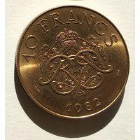 Монако 10 франков, 1982 5-5-4