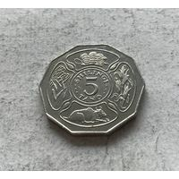 Танзания 5 шиллингов 1993 - в блеске