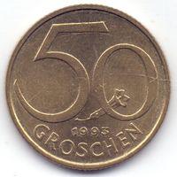 Австрия, 50 грошей 1993 года.
