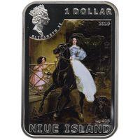 Ниуэ 1 доллар 2010 Художники мира Карл Брюллов Серебро Proof
