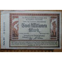 2 миллиона марок 1923г. Дуйсбург