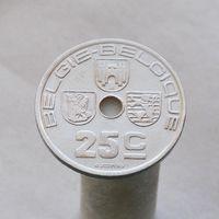 Бельгия 25 сантимов 1938