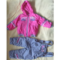 Куртка с комбинезоном для девочки. Описание внутри.