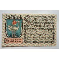 Германия. 1/2 марки 1921г.