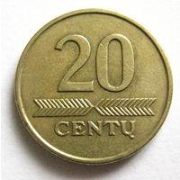 Литва 20 центов 1998