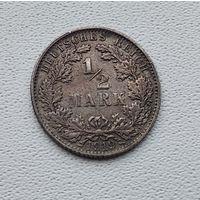 """Германия 1/2 марки, 1919 """"E"""" - Мульденхюттен 7-1-58"""