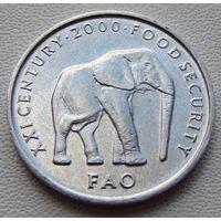 "Сомали. 5 шиллингов 2002 год  KM#45  ""Слон"""