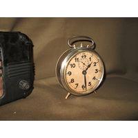 С 1 рубля!Немецкие часы-будильник Junghans нач.20-го века