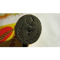 Печать шляхетская 18 век герб Памян