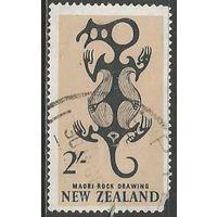 Новая Зеландия. Искусство народа миори. 1960г. Mi#402.