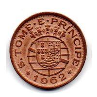 Португальская Провинция Сан-Томе и Принсипи 20 ЦЕНТАВО 1962. НЕЧАСТАЯ.