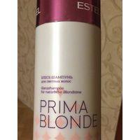 Шампунь для блондинок Estel Prima Blond. Блеск-шампунь для светлых волос. 1 литр. Новая, даже не открывала. Срок до 11.2020 года. Почтой по предоплате лота, обмен не интересует.