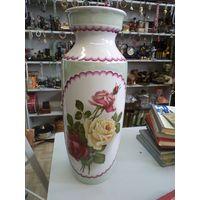 Большая красивая интерьерная ваза Добрушского завода советского периода, 47 см
