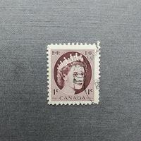 Марка Канада 1954 год. Королева Елизавета II