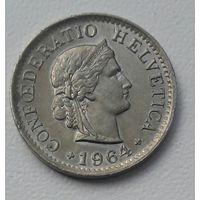 Швейцария 5 раппен 1964 год (B)_в блеске_km#26