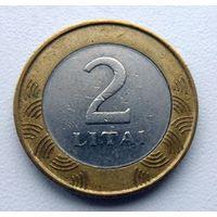 2 лита Литва 2002 г.в. - из копилки