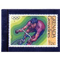 Гренада и Гренадины. Mi:GD-GR 193. Велоспорт. Олимпийские игры. Монреаль. 1976.