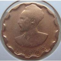 Эфиопия 25 центов 1944 г. В холдере