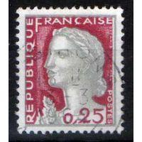1960 Франция Марианна Символ Свобода стандарт марки