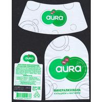 Этикетка АУРА минерализованная вода 0,5 л