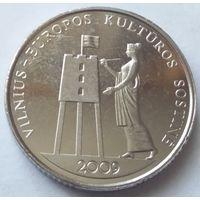 Литва 1 лит 2009 года Вильнюс Культурная столица Европы 2009 года