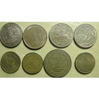 8 монет евроценты разные