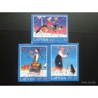 Латвия 2005 Рождество полная серия гаш
