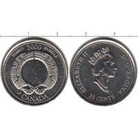 Канада 25 центов 2000 Семья UNC