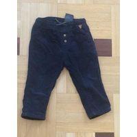 Штроксовые штаны H&M на рост 80. Очень классные, мягенькие. ПОталии регулируется шнурком, длина 43 см, длина шагового 25 см. Хорошее состояние.