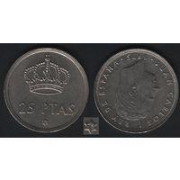 Испания _km808 25 песет 1975(78) год (f32)