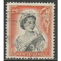Новая Зеландия. Королева Елизавета II. 1957г. Mi#366.