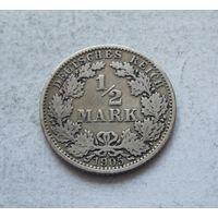 Германия 1/2 марки 1905 A (Берлин) 4