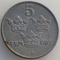 Швеция, 5 эре 1943 года, KM#812