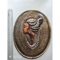 Панно чеканка Нефертити.