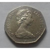50 пенсов, Великобритания 1982 г.