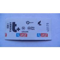 Билет Францыя TICKET GROUPE 40178. распродажа