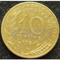 957:  10 сантимов 1981 Франция KM# 929