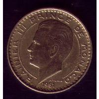 10 Франков 1951 год Монако