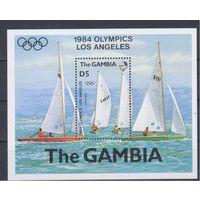 [1324] Гамбия 1984.Парусники,яхты.