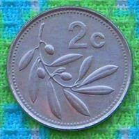 Мальта 2 цента 2005 года. Оливки. АU. Подписывайтесь! Много новых лотов в продаже!!!