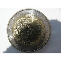 Португалия 2 евро 2010 г. 100 лет Португальской Республике. (юбилейная) UNC!