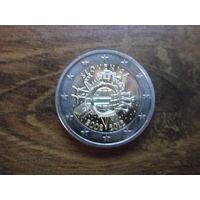 Словакия 2 евро 2012   10 лет наличному обращению евро