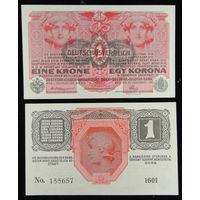 Австрия. 1 крона 1916 года. UNC.