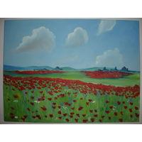 Красивая Картина Маковое поле новая