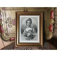 Старинная Гравюра Портретная Рама Франция 1800-е 2шт