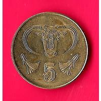 14-32 Кипр, 5 центов 2004 г.